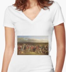Charles Lees - The Golfers Women's Fitted V-Neck T-Shirt