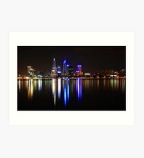 Perth The City Of Lights Art Print