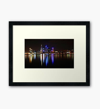 Perth The City Of Lights Framed Print