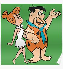 Wilma And Fred Poster