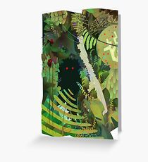 Jungle Monster ! Greeting Card