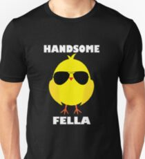 Easter Theme: Happy Easter Shirt For Kids Women Men  Eggs Bunny: Handsome Fella Unisex T-Shirt