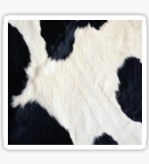 Cowhide Black and white Sticker