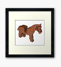 Toy Brick Horse Framed Print