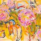 Birds and Hot Pink Flowers by SHANNON BUEKER