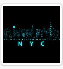 Digital Cityscape: New York City, New York Sticker