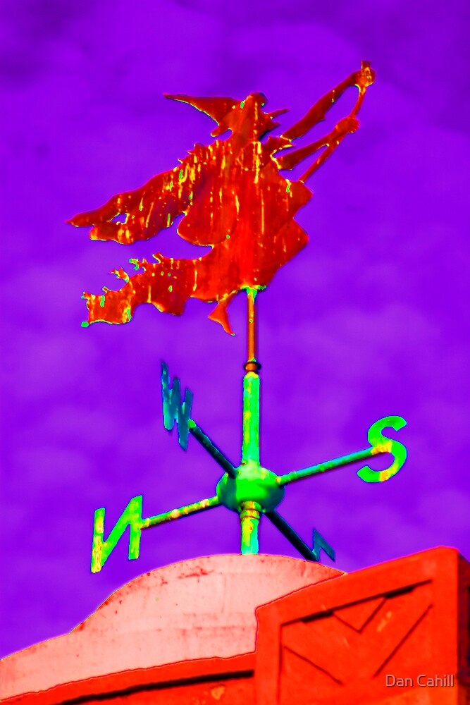 Series:  Weathervanes of New England-  Witch Way The Wind Blows by Dan Cahill