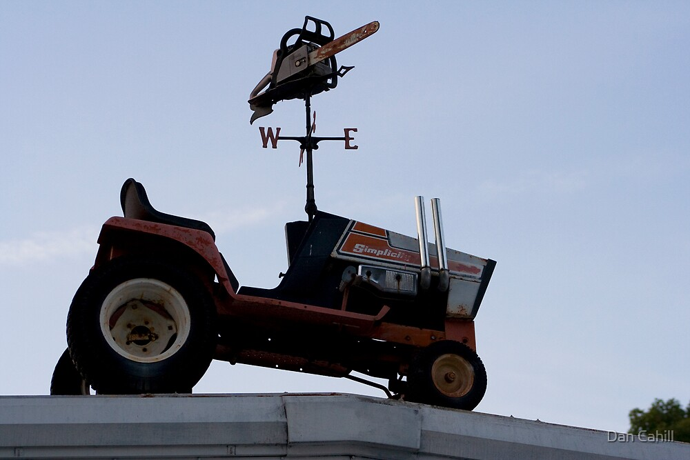 Series:  Weathervanes of New England-  Chain Saw of Events by Dan Cahill