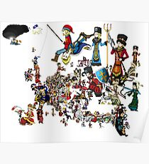 EUROPA - National Personifications Map - 1444 Poster