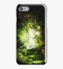 Encounter in a Woodland Glade iPhone Case/Skin