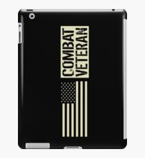Combat Veteran: Black Military U.S. Flag iPad Case/Skin