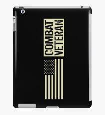 Combat Veteran: Black Military U.S. Flag iPad Case/Skin