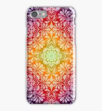 Colorful Background with Drawings Flowers Leaves iPhone Case/Skin