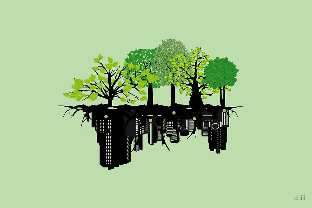 Trees into Buildings. by chiii