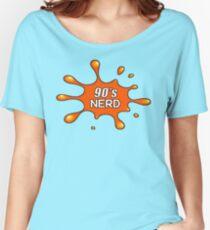 90's Nerd Splat Retro Women's Relaxed Fit T-Shirt