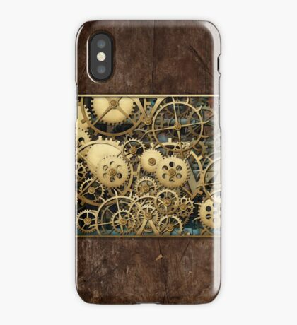 Steampunk Brass and Wood Cover iPhone Case/Skin