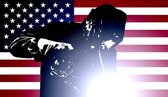 Welding: Welder & American Flag by MilitaryCandA