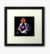 "Obama Superman Street Art ""Drone Man,"" London Framed Print"