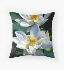 White Lotus's Throw Pillow