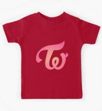 TWICE Logo (Apricot & Magenta) Kids Tee