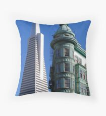 Different Times Throw Pillow