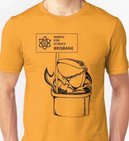March for Science Brisbane – Shark, black T-Shirt