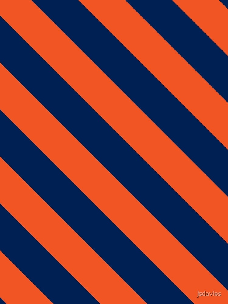 Diagonale Streifen: Orange und Marineblau von MilitaryCandA