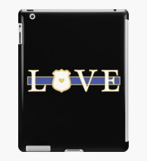 Love Police Officer - Thin Blue Line iPad Case/Skin