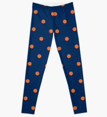 Polka Dots: Orange & Navy Blue Leggings