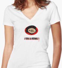 ! Viva La Normal ! Women's Fitted V-Neck T-Shirt