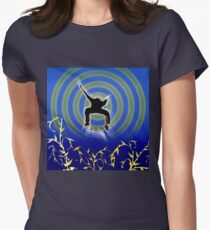 Skateboarder Womens Fitted T-Shirt
