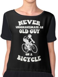 Never underestimate an old guy on a bicycle Chiffon Top