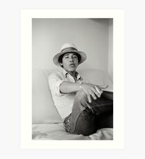 Photographs of Barack Obama as Barry the Freshman in 1980  Art Print