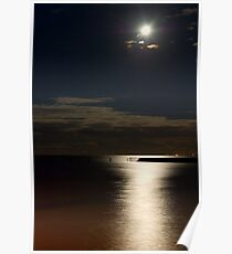 Shorncliffe by Moonlight Poster