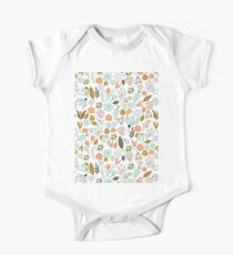 Hand Drawing Floral Pattern Kids Clothes