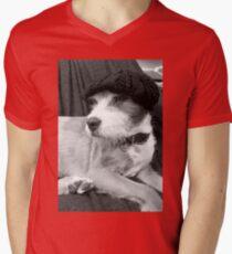 Monsieur Scruffy  Mens V-Neck T-Shirt