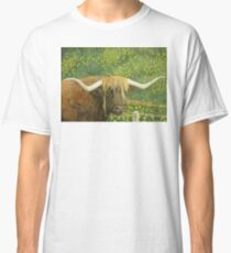 Highland Cow and Dandelions, New Zealand Classic T-Shirt