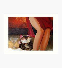 Catmasutra - Lychee Martini Art Print