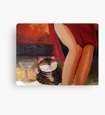 Catmasutra - Lychee Martini Canvas Print