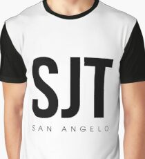 SJT - San Angelo Airport Code Graphic T-Shirt
