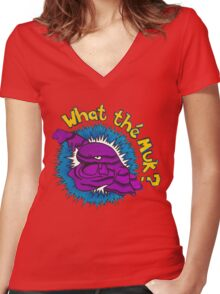 What the Muk?! Women's Fitted V-Neck T-Shirt