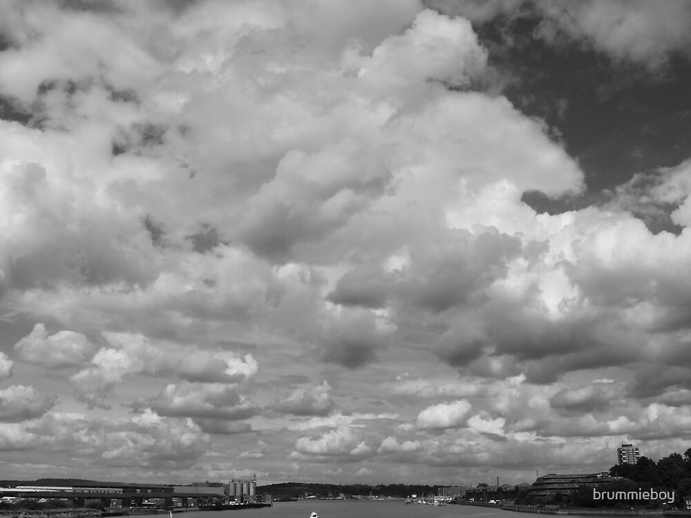 B & W Cloud Study (2) by brummieboy
