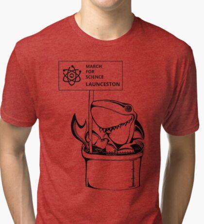 March for Science  Launceston – Shark, black Tri-blend T-Shirt