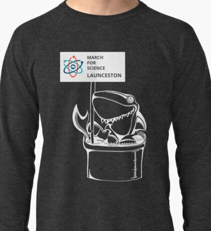March for Science Launceston – Shark, white Lightweight Sweatshirt