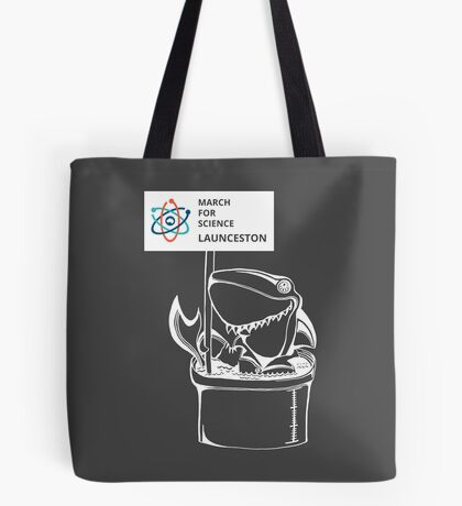 March for Science Launceston – Shark, white Tote Bag
