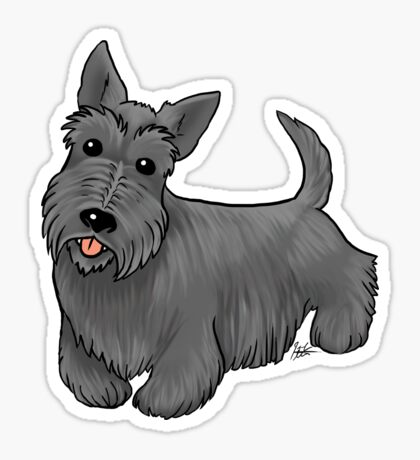 Scottish Terrier Glossy Sticker