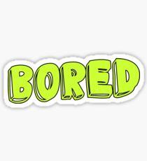 Bored Sticker Sticker