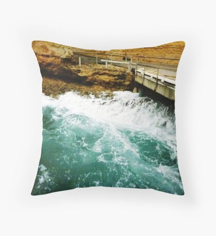 The other side of the Swell - Port Campbell Vic. Throw Pillow
