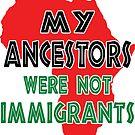My Ancestors were not immigrants by EthosWear