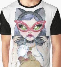 Kitty Cat Girl Graphic T-Shirt